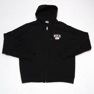 Nike Hoodie Full Zip Sweatshirt Jacket Black